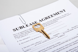 Sublease agreement with golden key